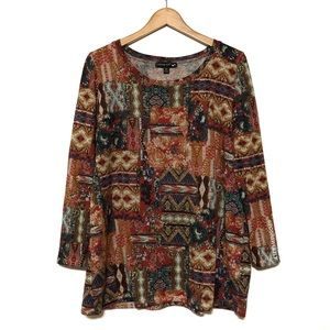 Living Doll Patchwork Printed Sweater